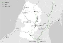 山形県の地図