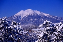弘前城本丸から望む岩木山(イメージ)