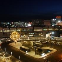 帯広駅前(夜景)