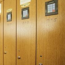 暗証番号式の浴室ロッカー