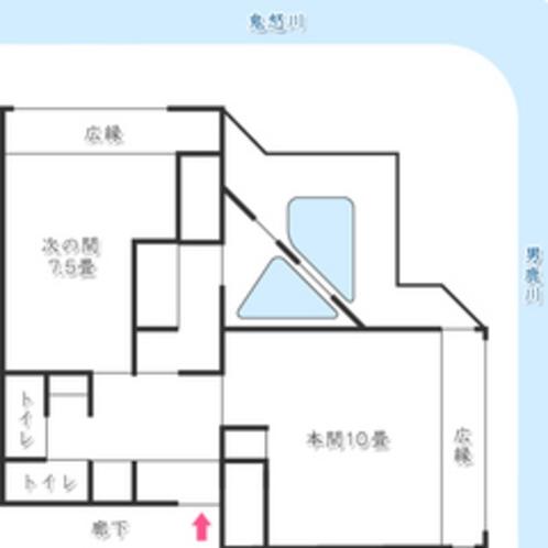 花見亭『特別室』平面
