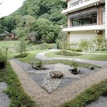 敷地内中庭