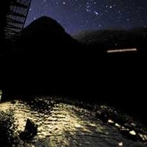 露天風呂より野岩線を臨む (夜景イメージ)
