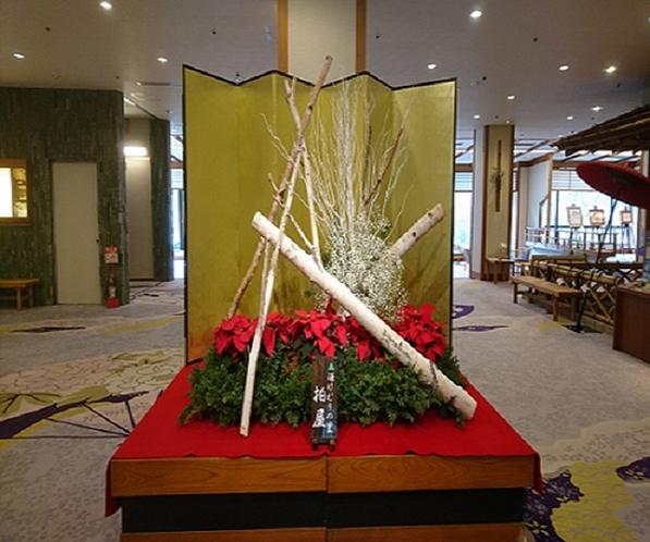 ロビー花(クリスマスバージョン)