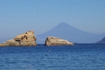 雲見海岸からの富士山