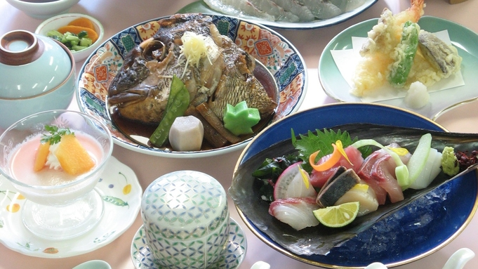 【竹プラン】鯛の造りなど全9品!さらに選べる「海」コース or「山」コース