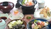 【松プラン】と徳島海陽町での生産がもっとも多い地鶏・阿波尾鶏を味わう「山」コース