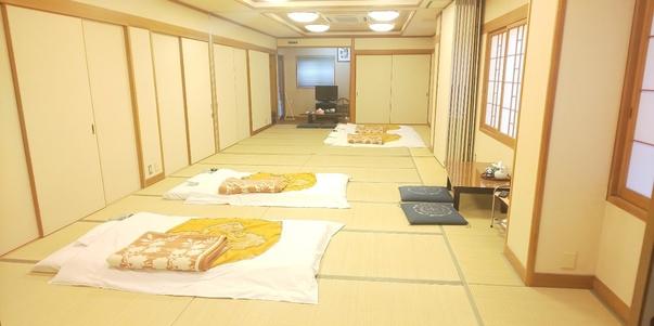 【布団別】大部屋和室、12畳・18畳・30畳