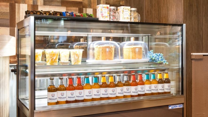 白玉糖シフォンケーキや高知県のクラフトビールなどお召し上がりいただけます。