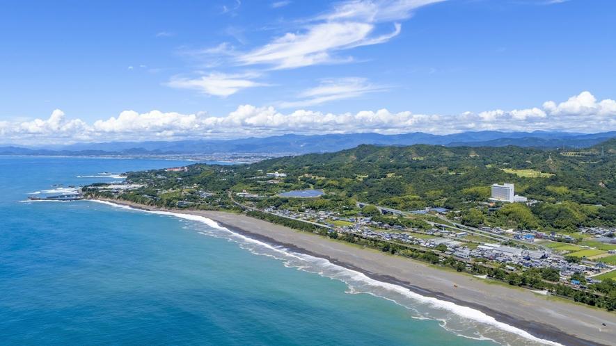 【外観イメージ】雄大な太平洋とのどかな芸西村の風景は当ホテルならではのロケーションです。