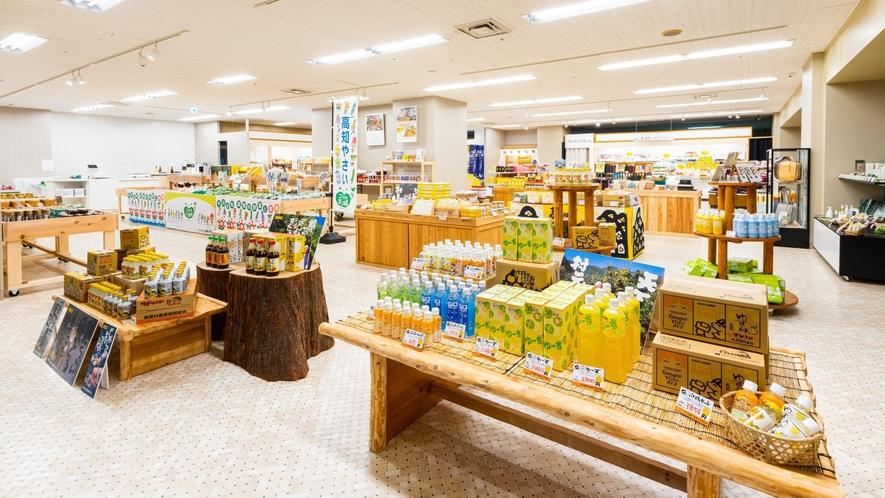 当館1階Marche in Geisei Villageでは高知県の商品や地場産品も販売しております