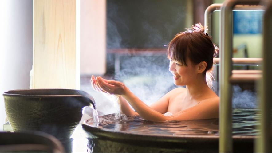 ホテル自慢の温泉大浴場に使って癒しのひとときをお楽しみくださいませ。