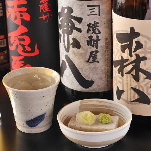 九州の有名焼酎を数多く取り揃え(豊後食彩・手打ち蕎麦 若潮)