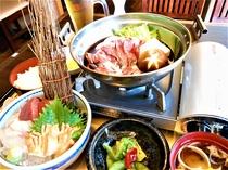1泊2食付きプラン 特別セット 牛タンすき焼き&お刺身セット(アルコールのワンドリンク付き)