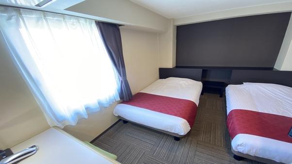 【禁煙】エコノミーツインルーム(ベッド幅110cm/角部屋)