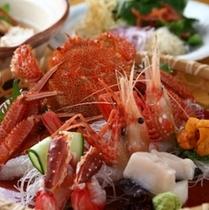 【新鮮な蟹を様々なお料理で堪能】