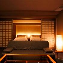 【檜内風呂付和風ベッドルーム60平米】