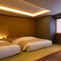 【山側の温泉&寝湯付客室「連珠」(160平米)】