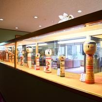 *【こけし】宮城県の伝統的工芸品である『こけし』を展示しております。