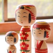 *【こけし】宮城県の伝統的工芸品。ひとつひとつ表情が違います。