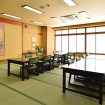 *【お食事処】和の雰囲気漂うお部屋で、ごゆっくりお召し上がり下さい。