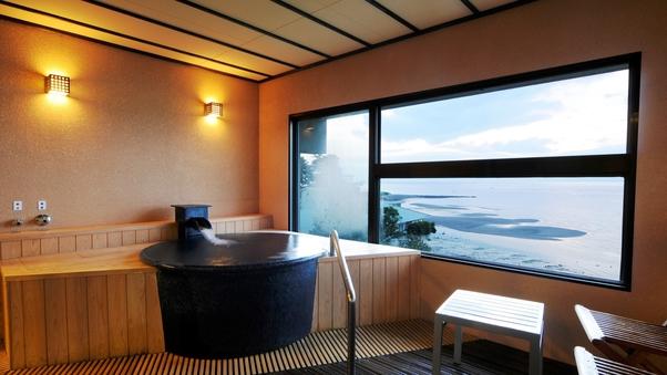 オーシャンビュー 半露天風呂付和洋室84平米◆トリプル