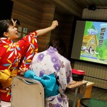 【夜8時からのロビーナイトイベント】プロジェクターの大画面でゲームしまくろう!