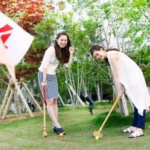 広~い庭園ではグランドゴルフも楽しめちゃいます♪