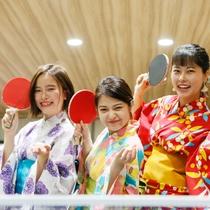 【夜8時からのロビーナイトイベント】卓球はやっぱり外せない!競争だあ!