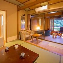 2階海側露天風呂付客室(一例)*