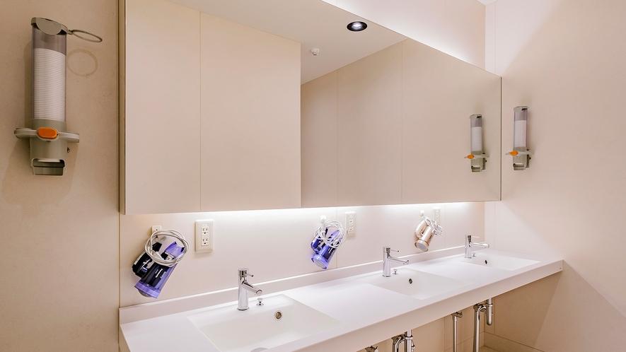 ・共用洗面所 固形石鹸はフロントにあります
