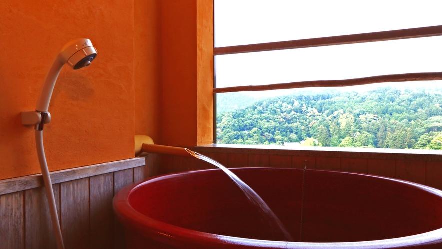 《和室10畳》露天風呂からは吉野絶景が眺められます。