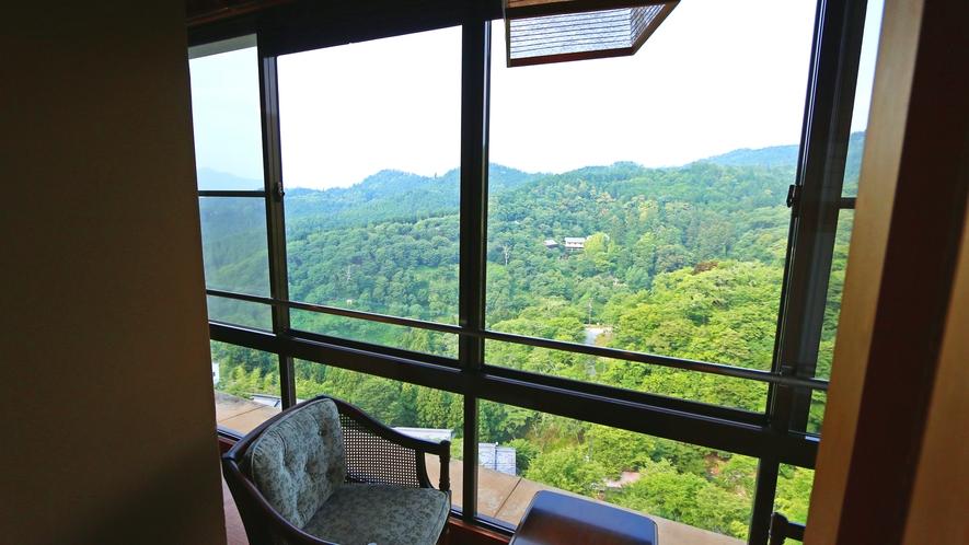《特別和洋室》 外の景色を眺めながらゆったりした時間をお過ごしください。