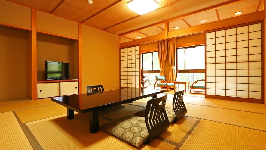 《バリアフリー和室》広々としたゆったり出来る客室です。