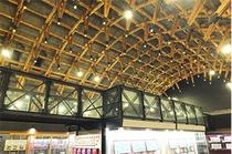 鉄道スクエアの天井