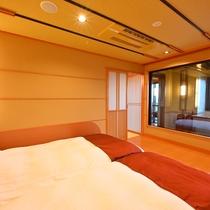 5階プレミアムフロア温泉露天風呂付和洋室