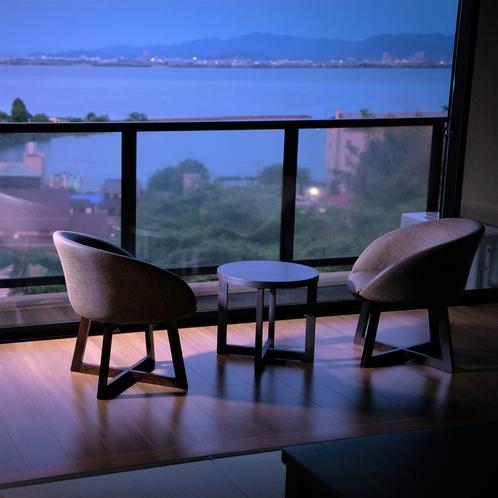 客室から見る夜景
