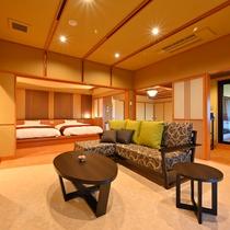 5階プレミアムフロア温泉露天風呂付特別室リビング