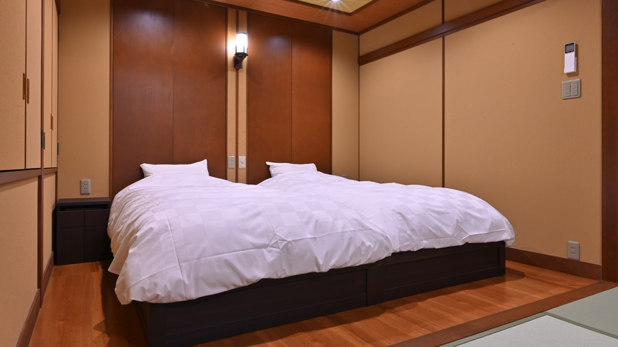 露天風呂付和洋室・ベッド
