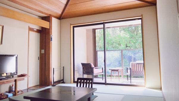 【禁煙】渓流テラス付き和室 + シャワーブース付