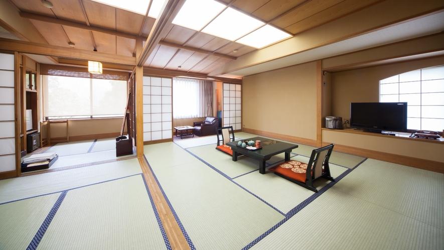 【喫煙】角部屋19畳 + 広縁付き。本館4~6F各フロアに一部屋ずつ。