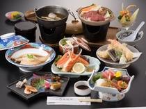お肉も食べたい方にはこのプラン(^_-)-☆牛肉の陶板焼き御膳