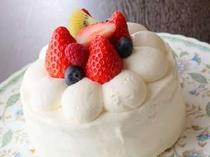 21. 手造りバースデーケーキ。記念日にどうぞ♪