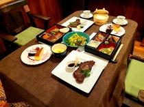 本館・お部屋食夕食一例