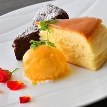 デザート一例。パティシエ作。