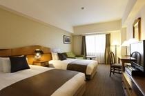 <ツインルーム>  ベッド幅120cm×2台 お部屋の広さ25.5㎡