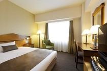 <シングルルーム>  ベッド幅140cm お部屋の広さ17.5㎡~