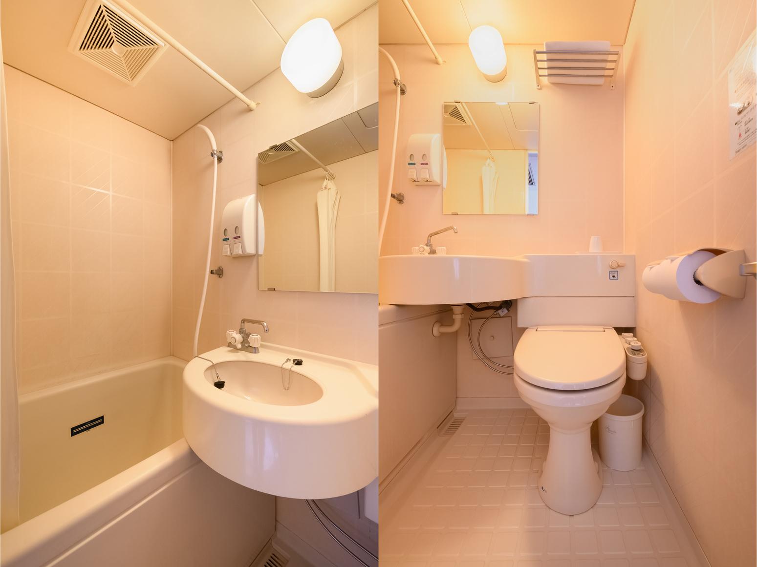 セミダブルルーム(禁煙)バス・トイレ