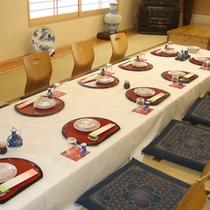 【大広間】宴会や会食に。座席で対応可能です