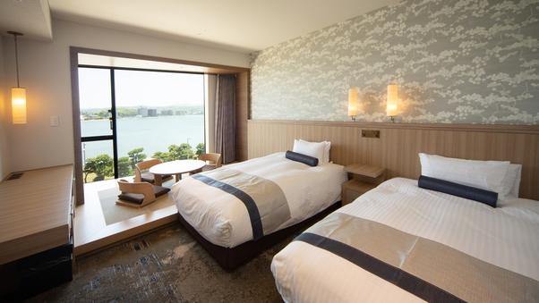 湖側◆和洋室33平米ベッド幅120cm★禁煙